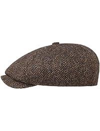 Stetson 8-Panel Harris Tweed Flatcap Mütze Schirmmütze Ballonmütze Wollcap  Wintermütze für Herren mit Schirm 122cdfb7246c