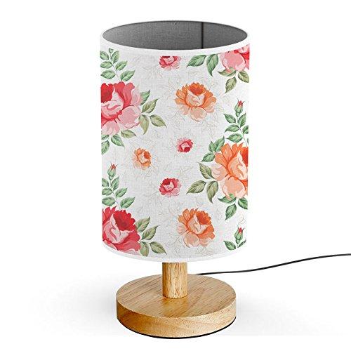 ArtsyLight - Schreibtischlampe LED Holz Tischlampe, USB-Stecker Schlafzimmer Nachttischlampe [ Rote...