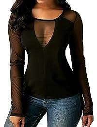 FAMILIZO_Camisetas Mujer Manga Largo Otoño Camisetas Mujer Verano Blusa Mujer Sport Tops Mujer Casual Camisetas Mujer