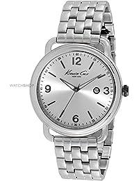 Kenneth Cole Kc925544mm Acier Argent Bracelet et coque minéral montre homme (Reconditionné Certifié)