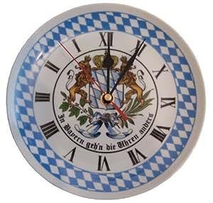 Original bayerische r ckw rtsuhr for Bayerische dekoartikel