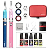 Salcar Cigarrillo electrónico EVOD CE8con doble kit de iniciación, batería recargable de 1100mAh, Vaporizador de 2.0ml + 5x 10ml set E-Líquido, 0,00 mg Nicotina (azul+rosado)
