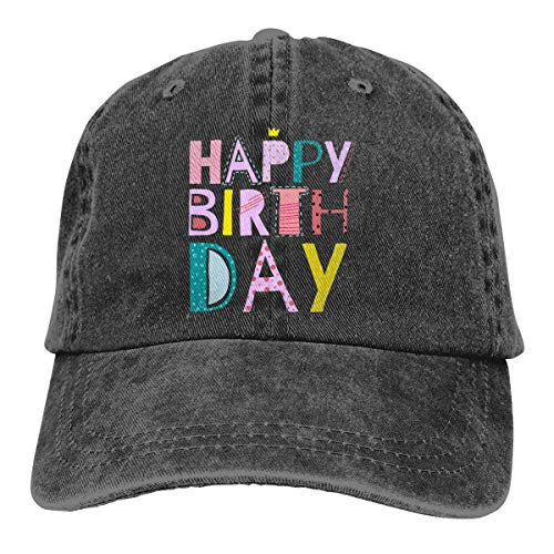 GiveUCap Adult Baseball Caps Hüte Happy Birthday 6 Dad Denim Hat Washed Baseball Cap Adjustable for Men Women
