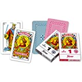 Fournier - Baraja española Nº 1, 50 cartas, color azul / rojo (F20991)