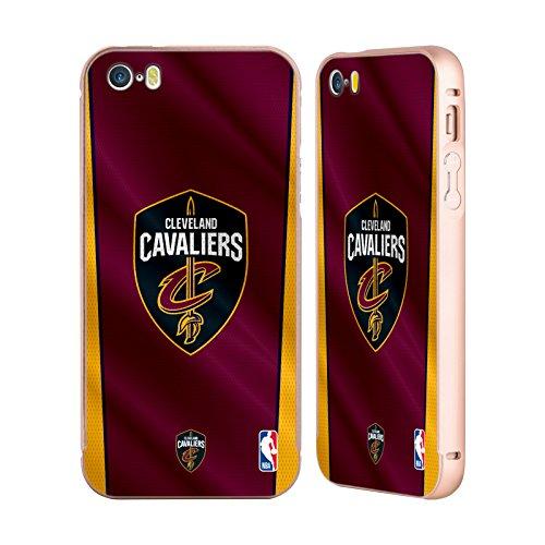 Ufficiale NBA Marmo B&N Cleveland Cavaliers Oro Cover Contorno con Bumper in Alluminio per Apple iPhone 5 / 5s / SE Banner