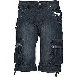New piedra de funda rígida para hombre agotamiento oscuro fundas para accesorios de tela vaquera se debe lavar a pantalones cortos de distintos tamaños 76,2 cm - 101,6 cm