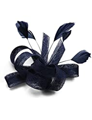 Bandeau de chapeau de plumes de Dame de lin pour la partie de mariage