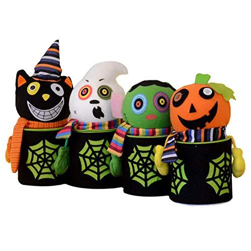 SMARTRICH Süßigkeitenbehälter, Halloween-Kürbis-Geister-Geschenk, für Kinder, Süßigkeiten-Dekoration (zufälliger Stil)