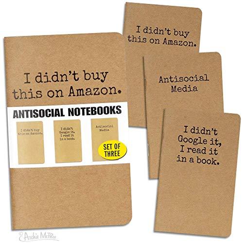 Archie McPhee Accoutements Anti-Social Notizbücher (Bücher, Die Ich Gekauft Habe)