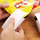 Sanskritti White: Mini Portable Package Handy Sealing Machines For Plastic Snacks Bags Heat Sealer Vacuum Resealer Kitchen Storage Without Battery