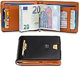 TRAVANDO Geldbeutel Männer mit Geldklammer Melbourne Kartenetui Slim Portemonnaie Portmonaise Herren Geldbörse Männer Klein Münzfach RFID Kreditkartenetui Brieftasche Portmonee Kreditkartenhalter