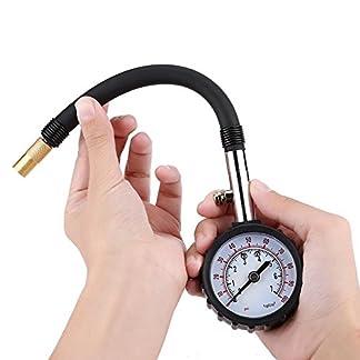 Manómetro de Presión de Neumático Rueda Acero Inoxidable Alta Precisión