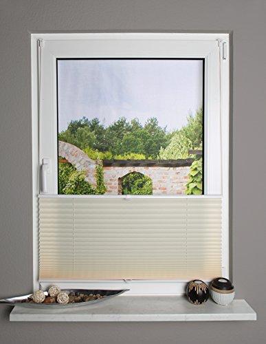 Home Fashion 094500-0218Beige 130cm x 40cm Estor Up & Down, plástico, Beige, 130x 40cm