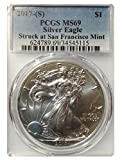 2017-S US Mint Silver Eagle, .999 Pure Silver, PCGS Certified Mint State 69