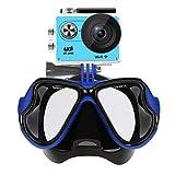 YDI Masque de Plongée en Apnée Plongée Sous-marine Compatible avec caméra sports, GoPro Hero 1/2/3/4/5, Session Xiaoyi, Session SJCAM, Masque Snorkeling