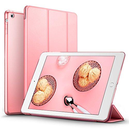 iPad Mini Hülle, ESR® Yippee Series Auto Aufwachen / Schlaf Funktion PU Ledertasche mit Durchschaubar Rückseite Abdeckung Schutzhülle für iPad mini 3/2/1 (Süß Rosa)