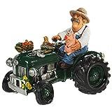 Spardose Trecker,Traktor mit Fahrer sehr edel und gros mit Gummiverschluß