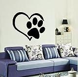 Bomeautify Hund Fußabdrücke Wandaufkleber Tierhandlung Wohnzimmer Schlafzimmer abnehmbare Dekoration Aufkleber 45X50cm
