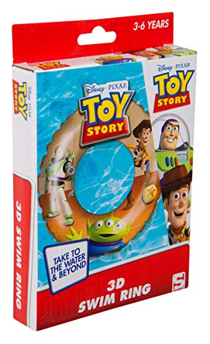 Sambro DTS-3395 - Schwimmring mit 3D Effekt, ca. 50 cm, Toy Story Motiv mit Woody und Buzz Lightyear, für Kinder von 3 bis 6 Jahren, mit Sicherheitsventil, ideal für Pool, Strand und Schwimmbad