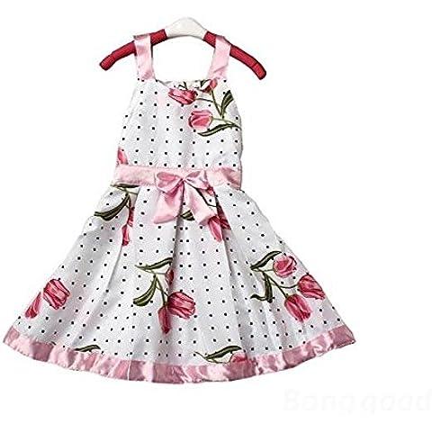 Calli Chicas chico cinta vestido sin mangas princesa tutu arco traje floral
