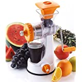 Vivir Galaxy Hand Juicer For Fruits And Vegetable With Steel Handle And Juice Collector (Orange)