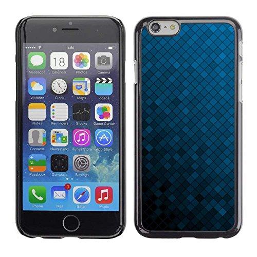 GREAT PHONE CASE GIFT // Cassa del Telefono mobile Custodia Rigida PC Coperchio decorativo Caso / Hard Case for iPhone 6 /Struttura blu Cubi/Texture Blue Cubes