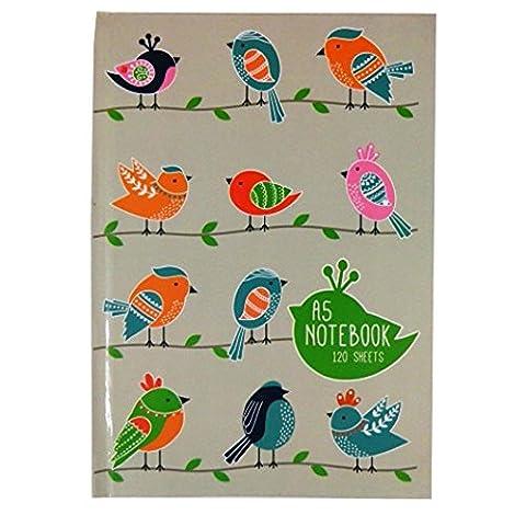 Cahier A5 240 Pages - A5 Cahier Couverture Rigide - Oiseau sur
