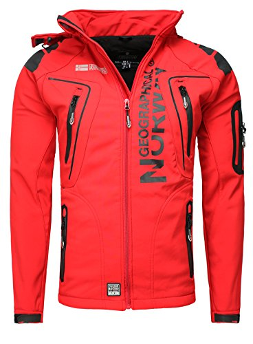 Giacca Giubbotto Uomo Geographical Norway Tangata Men Jacket Men (S, ROSSO)