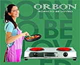 ORBON Double 1250W + 1250W Big Steel G Coil Stove Hot Plate Induction Cooktop/Induction Cookers/Electric Cooking Heater/Induction Radient Cooktop (from The House of ORBON)(Made in India)