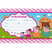 PEPPA PIG A5 PARTY INVITATIONS