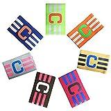 Adesugata Soccer Captain Armband,Football élastique Brassard, Velcro pour Taille...