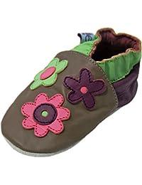 Liya's - Patucos de Piel para niña Marrón marrón, color Marrón, talla 30