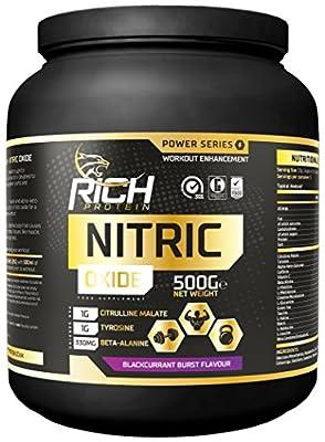 Rich Protein 500 g Blackcurrant Burst Nitric Oxide Supplement by Suppleform