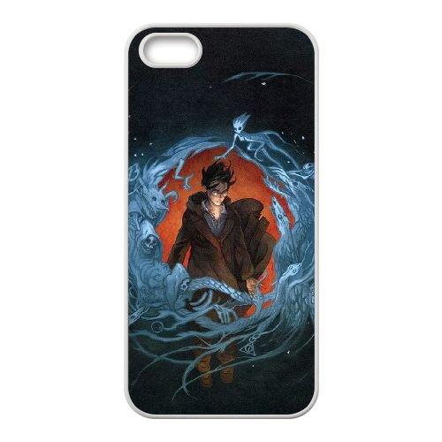 Deathly Hallows coque iPhone 4 4S Housse Blanc téléphone portable couverture de cas coque EBDXJKNBO11345