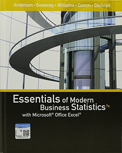 Essentials of Modern Business Statistics With Microsoft Office Excel + Xlstat Education Edition Printed Access Card + Mindtap Business Statistics 1 Term, 6 Months Printed Access Card