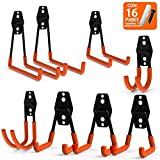 Garage Storage Hooks,Helot Heavy Duty Steel Double Hooks,for Organizing Power Tools,Laddy,Bulk Items (Pack of 8)