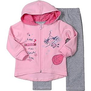 Be Mammy Conjunto Jersey y Pantalones Ropa Bebé Niña Fairy 7301 (68, Rosa/Gris Melange) 3
