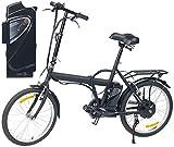 """eRädle E Bike: Klapp-Pedelec 20"""" mit bürstenlosem Motor, 2 Akkus (je 4,4 Ah), 25 km/h (Elektro Klapprad)"""