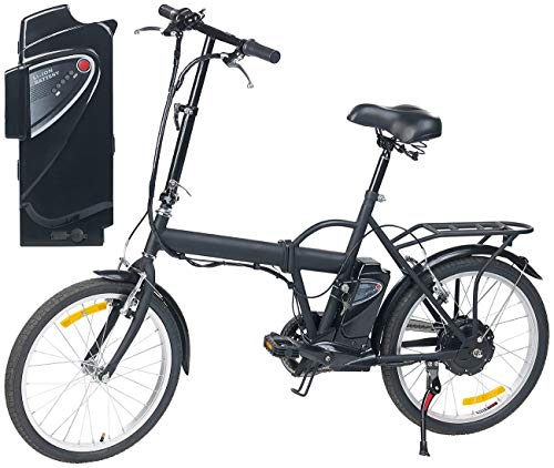 """eRädle E Bike: Klapp-Pedelec 20\"""" mit bürstenlosem Motor, 2 Akkus (je 4,4 Ah), 25 km/h (Elektro Klapprad)"""