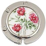 Gancio portaborse pieghevole da tavolo fantasia tre fiori