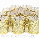 48 Gold Farbige Dekorative Teelichtverpackungen / Halter für Flammenlose Teelichter und Votivkerzen