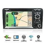 YUNTX Android 9 Autoradio Compatible avec Audi A3 (2003-2011) - GPS 2 Din - Caméra arrière et...