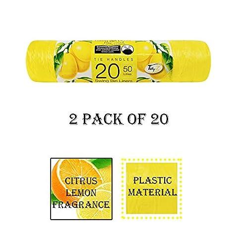 40sacs poubelle parfumés Idéal pour cuisine, chambre, Salle de Bain–Capacité 50l Extra Fort Sac poubelle