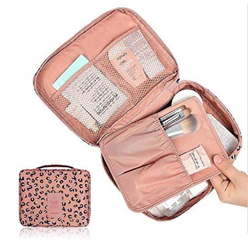 Kulturtaschen Pocket Trip Freie Kosmetische Verfassungs Beutel Kultur Travel Kit Organizer Leopard (Rosa) Taschen (Color : Blau, Size : One Size)