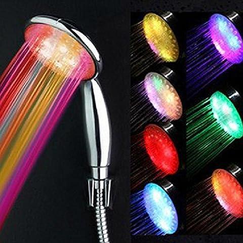 Romantique LED automatique de Salle de Bain Douche de tête rc-9820b Maison Salle de bain eau pression sensibles