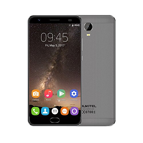 "OUKITEL K6000 Plus 4G Smartphone MTK6750T 64-bit Octa Core 4GB + 64GB Android 7.0 5.5"" 2.5D FHD 1920*1080 Pixels Écran 8MP + 16MP Empreinte Digitale Notification LED Quickly Charge OTG Charge Inversé"
