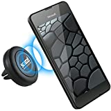KFZ Lüftungshalterung für MICROSOFT Lumia 950 / 930 / 650 / 640 / 550 / 540 / 535 / 532 / 435 / auch XL, LTE & Dual SIM Modelle / Magnet Auto Halter in schwarz von scozzi