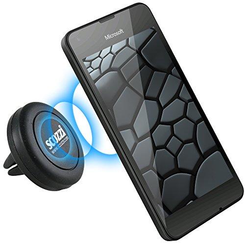 scozzi KFZ Lüftungs-Magnet-Halterung für [Microsoft Lumia 1330 950 650 640 550 540 535 532 435 430 | XL LTE Dual SIM + mehr] Auto Halter