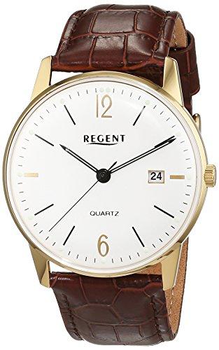 Regent Herren-Armbanduhr Analog Quarz Leder 11100264