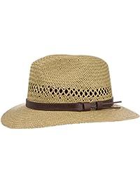 Sombrero de Paja con Banda de Piel sombrero travellersombrero de hombre sombrero traveller